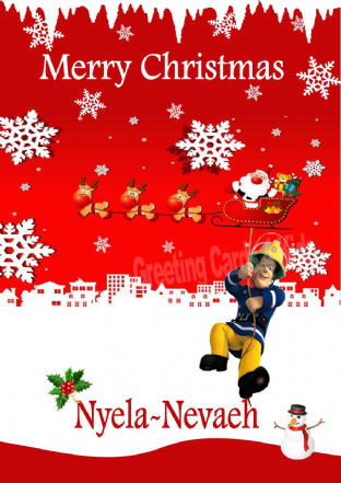 Personalised Fireman Sam Christmas Card 1